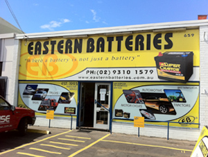 Eastern Batteries Shop Front